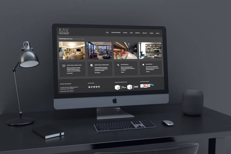 knightsbridge audio visual web design