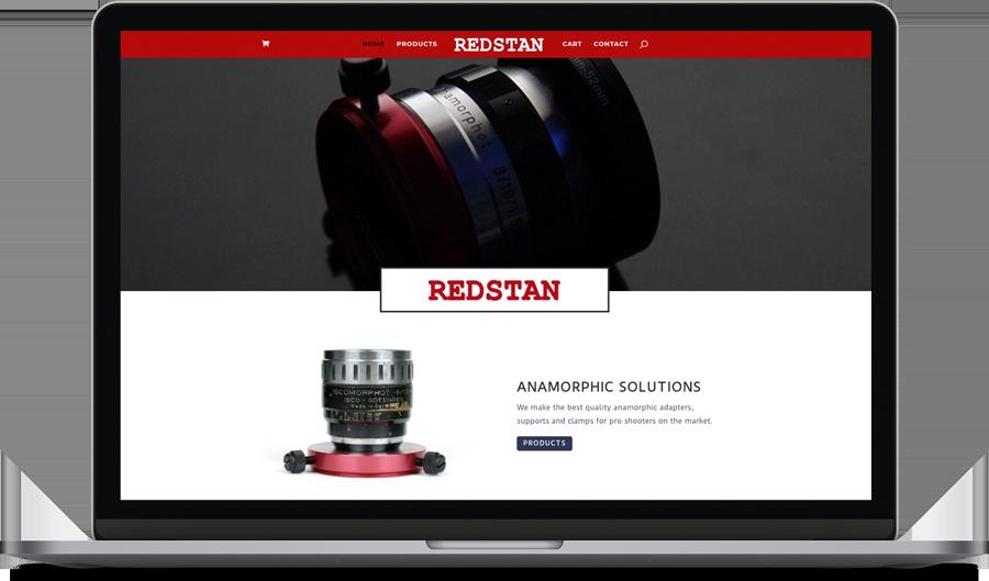 redstan anamorphic lenses website
